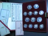 World Coins - Moscow 1980 Olympic Proof 90% Silver 28-Coin Set with Album and COAs