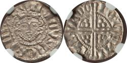 World Coins - Great Britain Henry III (1216-1272) Silver Penny NGC AU-55 Great Portrait!!
