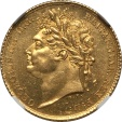 World Coins - Great Britain 1825 George IV Gold Half Sovereign NGC MS-62