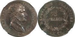 World Coins - France L'AN-XI Napoleon Bonaparte Premier Consul Silver 5 Francs NGC AU-58