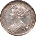 World Coins - Great Britain 1708 Anne Silver Shilling NGC MS-65