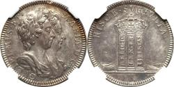 World Coins - Great Britain (1689) William & Mary Silver Pattern Farthing NGC MS-62