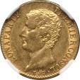 World Coins - France AN-12 (1803) Napoleon gold 20 Francs NGC AU-55