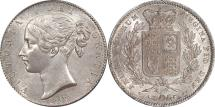 World Coins - Great Britain 1847 Victoria Young Head Silver Crown CGS 75