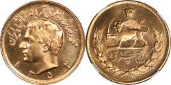 World Coins - Iran SH1345 (1975) Gold 5 Pahlavi NGC MS-66 HIGHEST GRADE!!