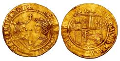 World Coins - Spain RARE GOLD Double Excelente Ferdinand & Isabella 1476-1516 VF/XF