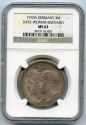 World Coins - Germany,SAXE-WEIMAR-EISENACH,Commemorative 3 marks,Silver,Choice UNC,NGC MS-63,Low Mintage