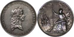World Coins - Great Britain Charles II Peace of Breda Silver Medal 56mm By J. Roettiers