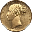 World Coins - Great Britain 1852 Victoria gold Sovereign NGC MS-64