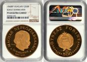 World Coins - Hungary 1968-BP Gold Proof 500 Forint  NGC Pf-64 Ultra Cameo