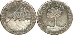 World Coins - Guatemala / Central American Republic 1840/37-NG MA/BA Silver 8 Reales PCGS MS-61 Gold Shield
