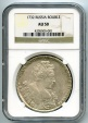 World Coins - Russian rouble 1732 NGC AU-50