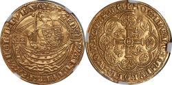 World Coins - Great Britain Edward III (1361-69) Gold Half Noble NGC AU-55 RARE GRADE!!