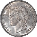 World Coins - Switzerland 1889-B Silver 5 Francs NGC MS-63