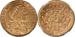 World Coins - Brazil 1732 Joao Gold 12800 Reis NGC AU-58 EXTREMELY UNDERGRADED!!