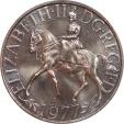 World Coins - Great Britain 1977 Elizabeth II Crown Size 25P PCGS MS-64