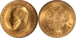 World Coins - Russia 1904 Nicholas II Gold 10 Roubles PCGS MS-65