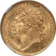 World Coins - Great Britain 1821 George IIII Gold Sovereign NGC MS-63