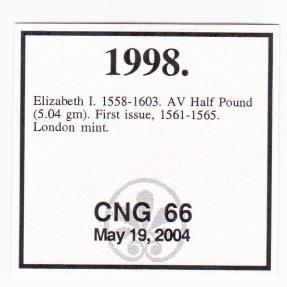 World Coins - Great Britain Elizabeth I (1558-1603) Gold Half Pound PCGS AU Details