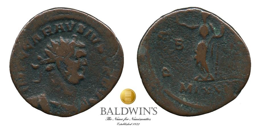 Ancient Coins - Carausius AE Antoninianus. London Mint. Substantial Flan. PAX AVG.