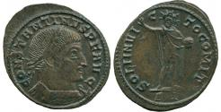 Ancient Coins - Constantine I, The Great (AD 306-336) AE Follis, Ticinum. Rare.