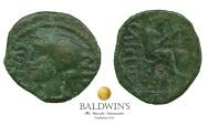 Ancient Coins - Celtic Britain; Cunobelin. (c.AD 10-43). AE Unit, Metalworker Type