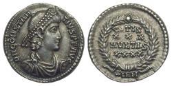 Ancient Coins - Constantius II (337-361) AR Heavy Siliqua. Sirmium. Scarce. Extremely Fine.