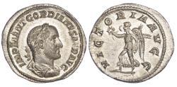 Ancient Coins - Gordian II, Silver Denarius, Rare