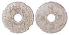 World Coins - NEW GUINEA, GEORGE V (1910-1936), COPPER-NICKEL HALFPENNY, 1929 – RARE