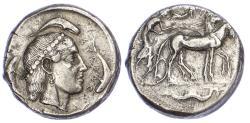 Ancient Coins - Sicily, Syracuse, Silver Tetradrachm