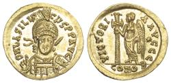 Ancient Coins - Basiliscus, Gold Solidus