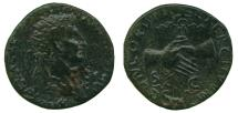 Ancient Coins - Nerva (96-98 AD) Brass Dupondius. Clasped Hands
