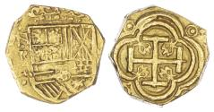 World Coins - COLUMBIA (COLONIAL), FELIPE IV OF SPAIN (1621-1665 AD), GOLD 2 ESCUDOS