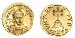 Ancient Coins - Constantine IV Pogonatus, Gold Solidus. Extremely Fine.