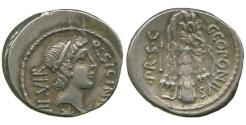 Ancient Coins - Roman Republic, Q. Sicinius & C. Coponius, Silver Denarius