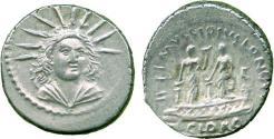 Ancient Coins - Roman Republic, L. Mussidius Longus, Silver Denarius