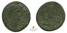 Octavian and Julius Caesar AE Sestertius/Dupondius. Rare.