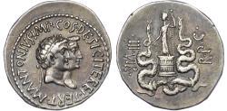 Ancient Coins - Mark Antony and Octavia, Silver Cistophorus