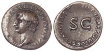 Ancient Coins - Drusus (Under Tiberius) AE As, Rome 14-37. Scarce issue of the Julio-Claudian Family.