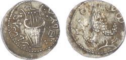 Ancient Coins - Judaea, Bar Kokhba Revolt, Silver Zuz