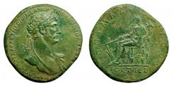 Ancient Coins - Hadrian, Brass Sestertius.