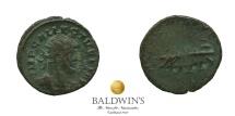 Ancient Coins - Allectus (293-296). AE Quinarius. War Galley. Fine.