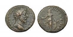 Ancient Coins - Marcus Aurelius, Copper As. Roma.