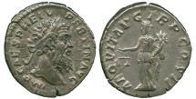 Ancient Coins - Pertinax (193 AD) Silver Denarius. Scarce Emperor.