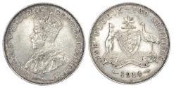 World Coins - AUSTRALIA, GEORGE V (1910-36), SILVER FLORIN, 1914 H