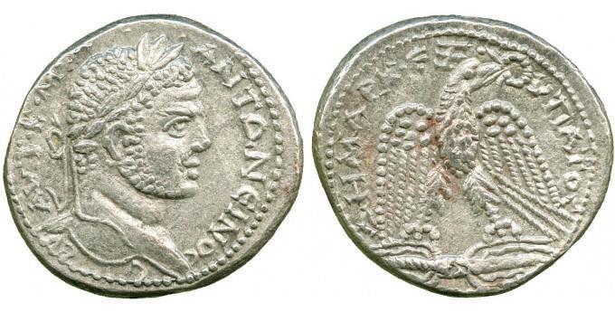 Ancient Coins - Caracalla (198-217) Billon Tetradrachm