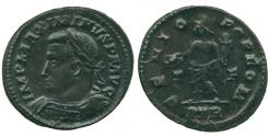 Ancient Coins - Maximinus II (AD 309-313) Billon Follis, Trier. Extremely Fine. Rare.