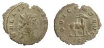 Ancient Coins - GALLIENUS. Antoninianus, Rome mint. Struck 267-268 AD. Goat