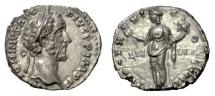 Ancient Coins - Antoninus Pius. AR Denarius, Rome mint, struck 158 AD. Liberalitas
