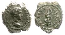 Ancient Coins - Caracalla as Caesar. MOESIA INFERIOR, Nicopolis ad Istrum. AE 19, AD 196-198